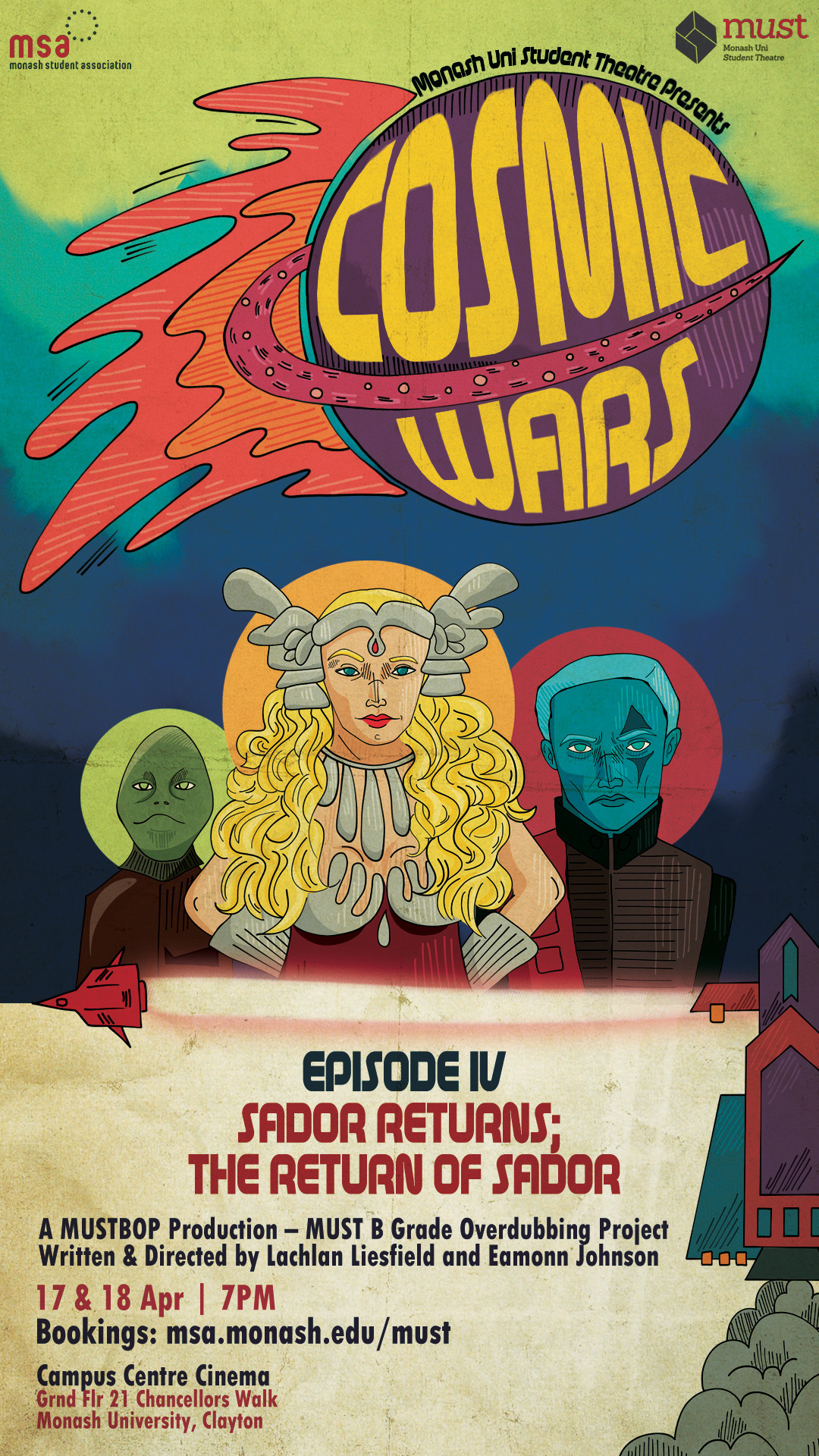 COSMIC WARS: Episode IV—Sador Returns; The Return of Sador